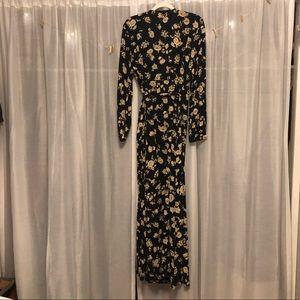 Amuse Society Floral Maxi Long Sleeve Dress